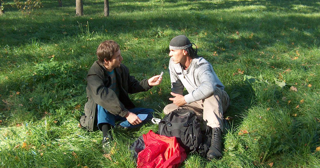 Голтис даёт интервью Юрию Семенову